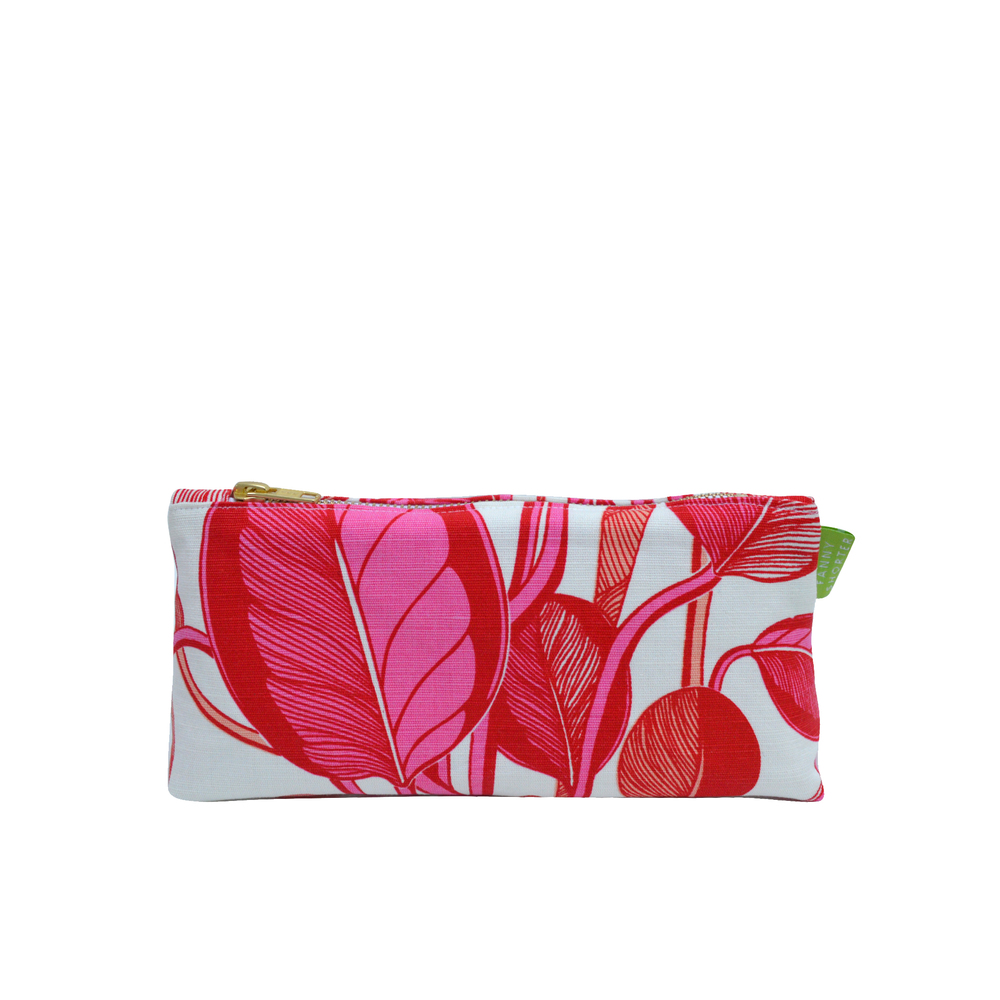 CALATHEA Small Cosmetics Bag | Coral