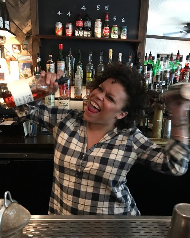 Steph's holding it down tonight and tomorrow night. Come get yer drank on with her! @widow_jane  #brooklyn #buchwick #cocktails #bar #swishswish