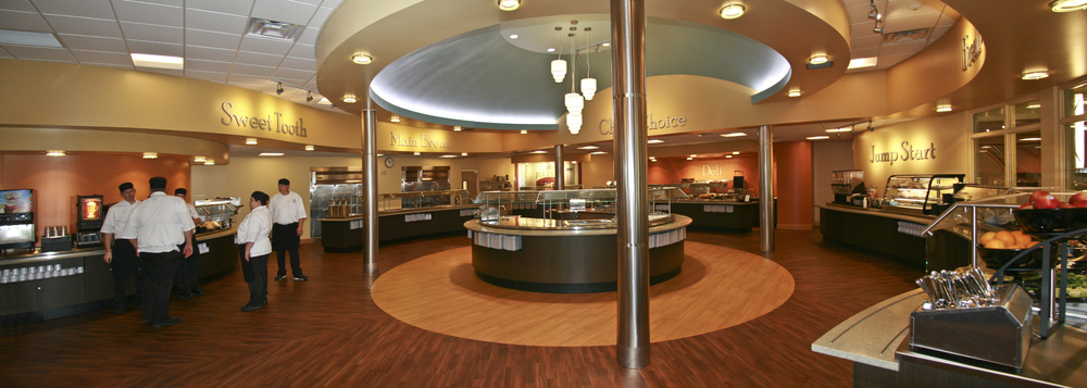 Cornerstone university cafeteria visbeen architects inc for U of t dining hall