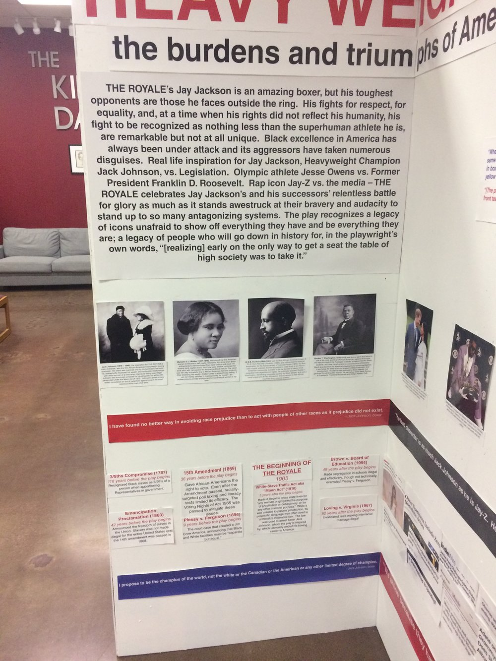 "THE LEFT SIDE OF THE DISPLAY - THE ""HISTORY"" SIDE"