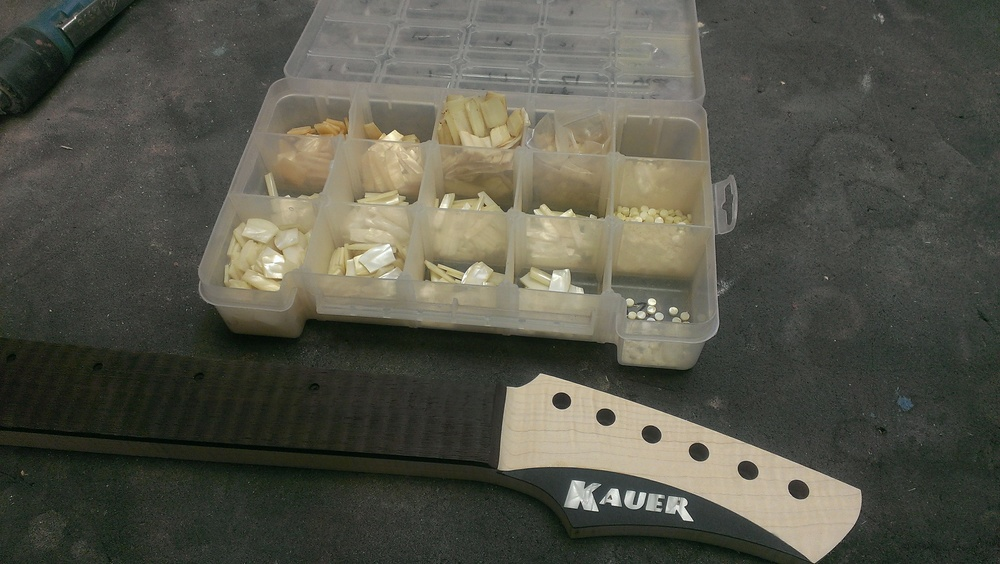 The tackle box of many inlays and a Kauer logo!