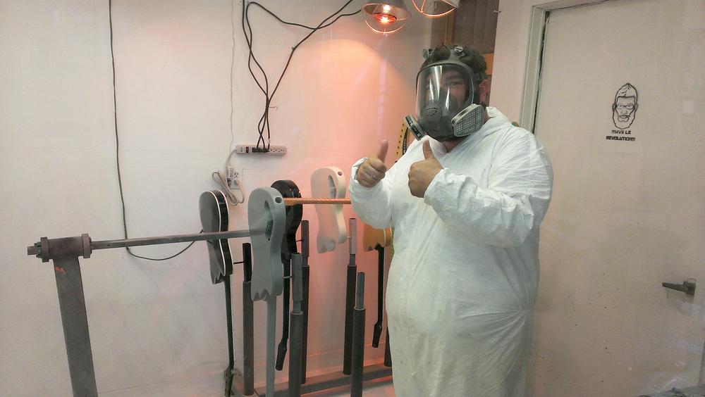 Ready to spray! Terrifying.