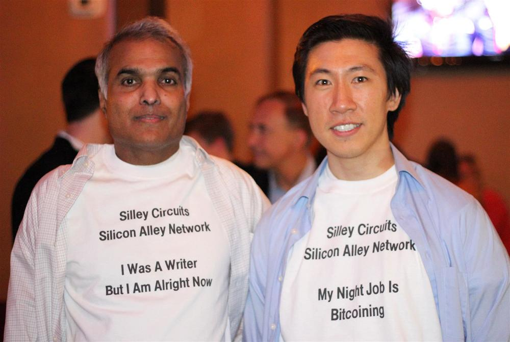 Ignatius Chithelen and Spencer Cheng at West 3rd Common. Silley Circuits: The Silicon Alley Network.