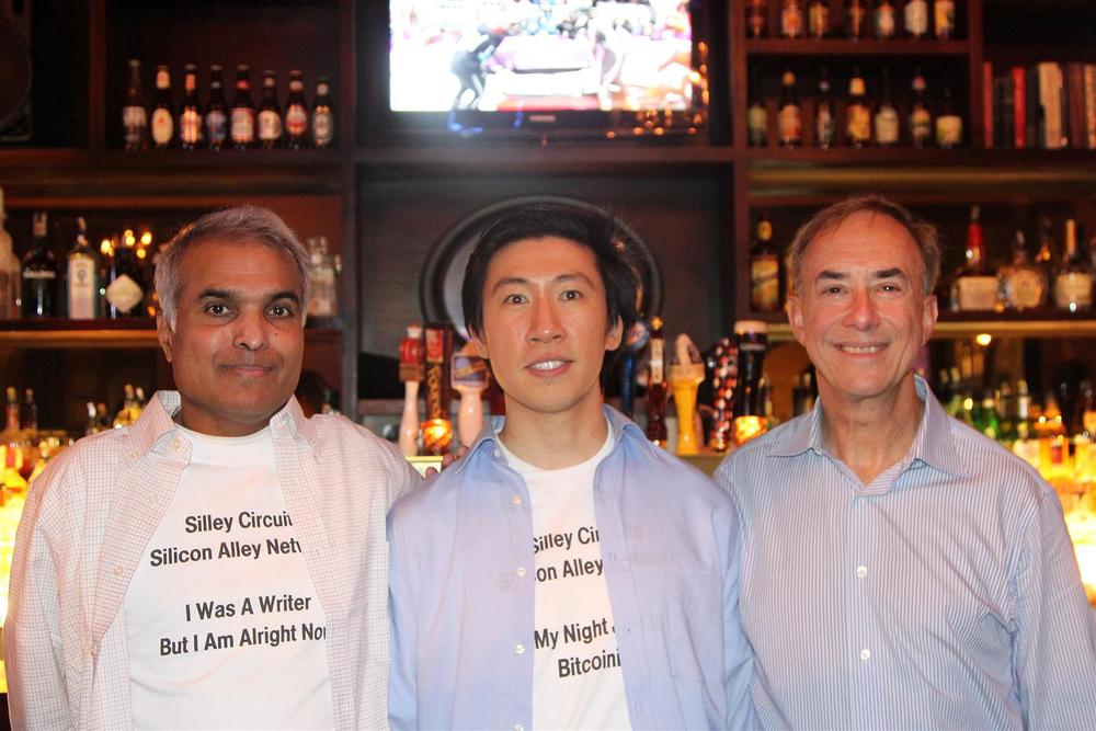 Ignatius Chithelen, Spencer Cheng, and Jerry Marcus at West 3rd Common. Silley Circuits: The Silicon Alley Network.