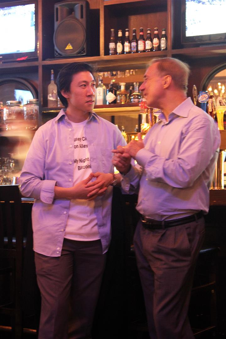 Spencer Cheng and Jerry Marcus at West 3rd Common. Silley Circuits: The Silicon Alley Network.
