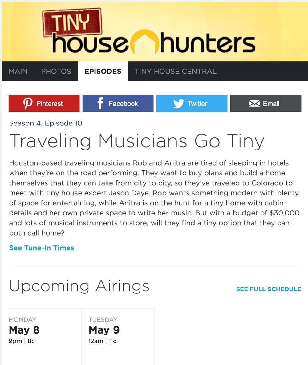 News anitra jay for Hgtv schedule house hunters