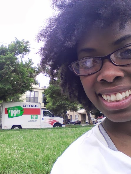There's me and the U-haul in the background.