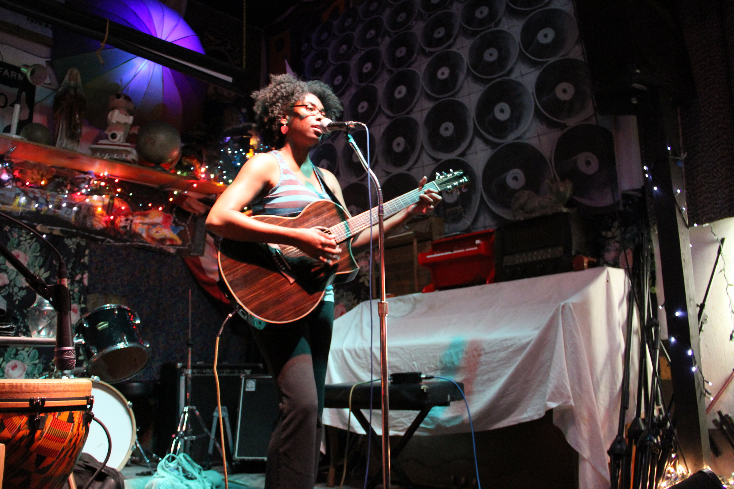 R&B/Soul Singer-Songwriter Anitra Jay performs at Goodebye Blue Monday in Brooklyn, NY