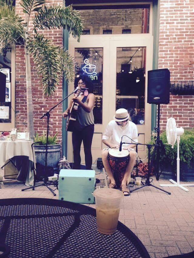 Performing at Mod Coffeehouse in Galveston, TX
