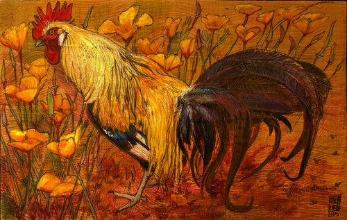 rooster paintings rooster studio
