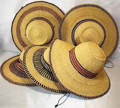 African Market Straw Hats