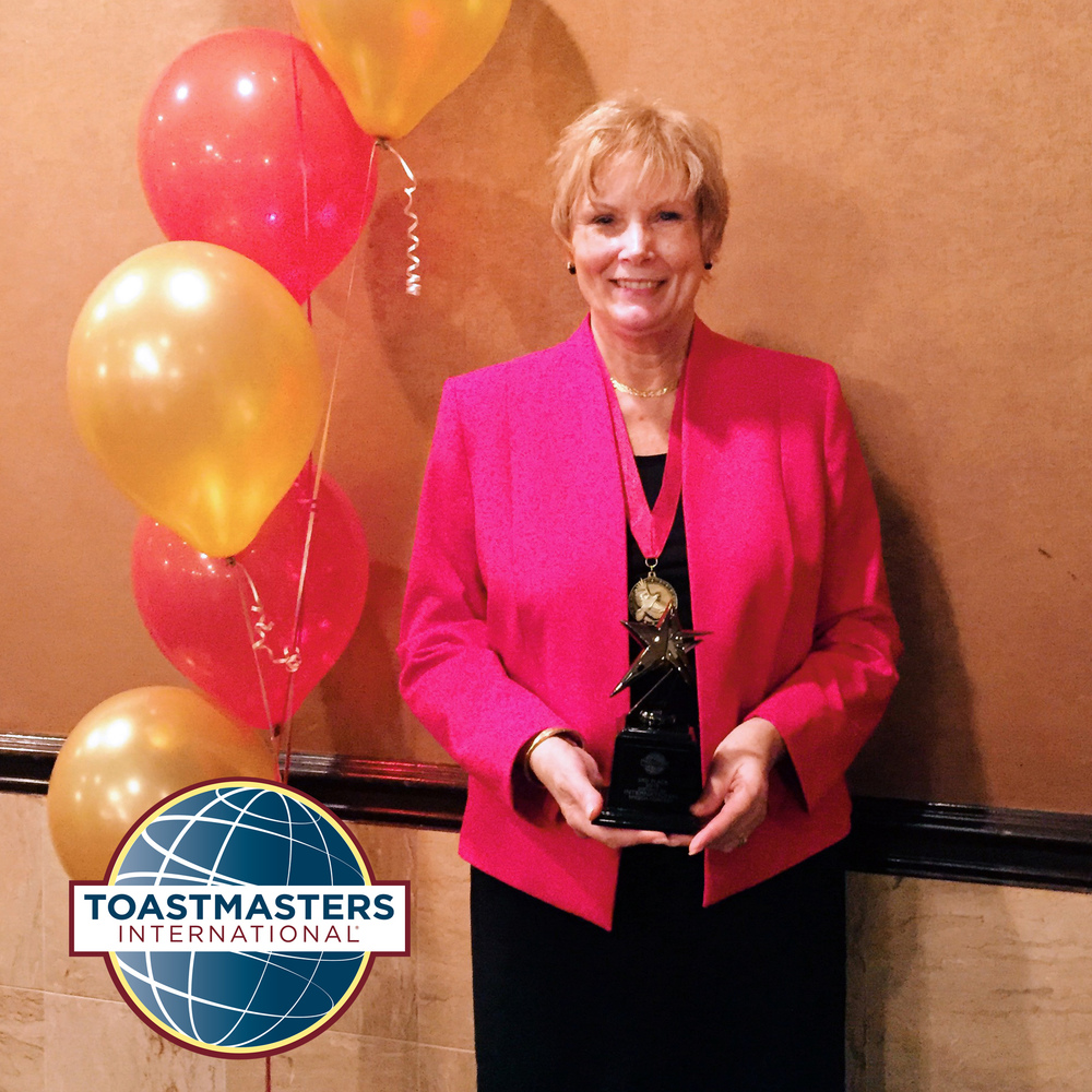 Jean MacDonald received the 3rd place award at the Toastmasters International District 30 Spring Conference on Saturday, April 30th, 2016. Watch her award winning speech.