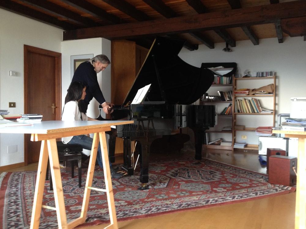 Working with Helmut Lachenmann on SerYnade, April 2015