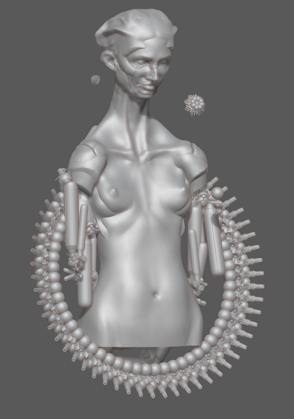 Max Brazier-Jones concept art cyber witch
