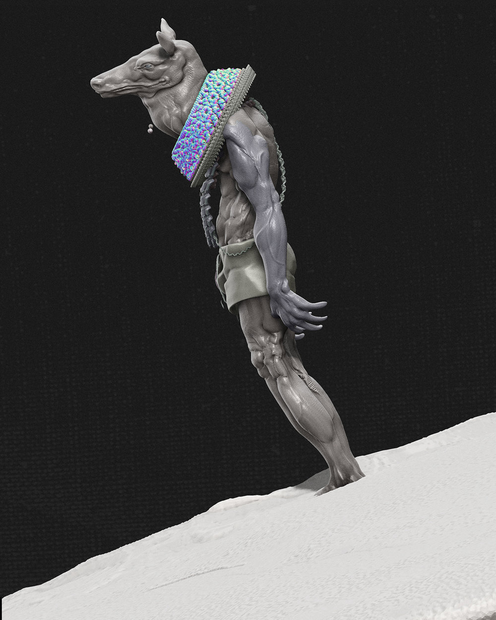 Max Brazier-Jones concept art minotaur character design