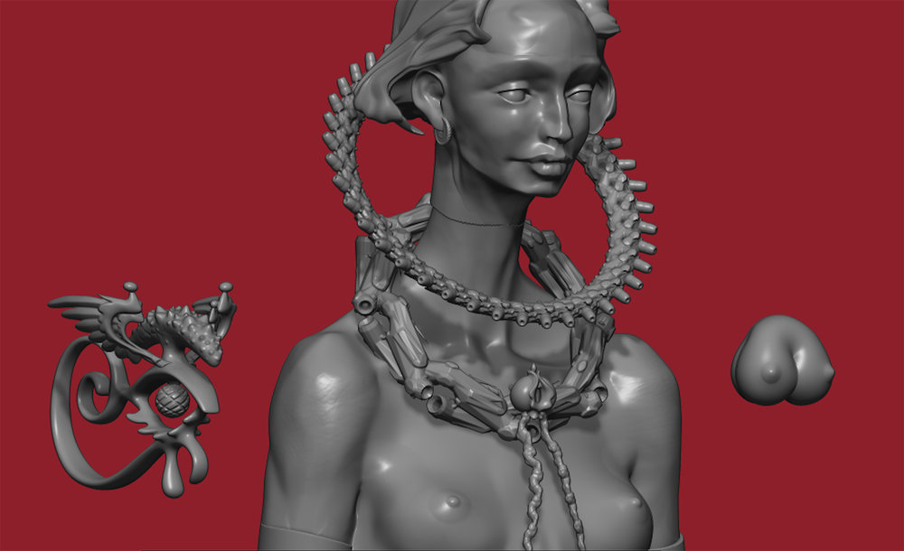 Max Brazier-Jones concept art character design pythia 3
