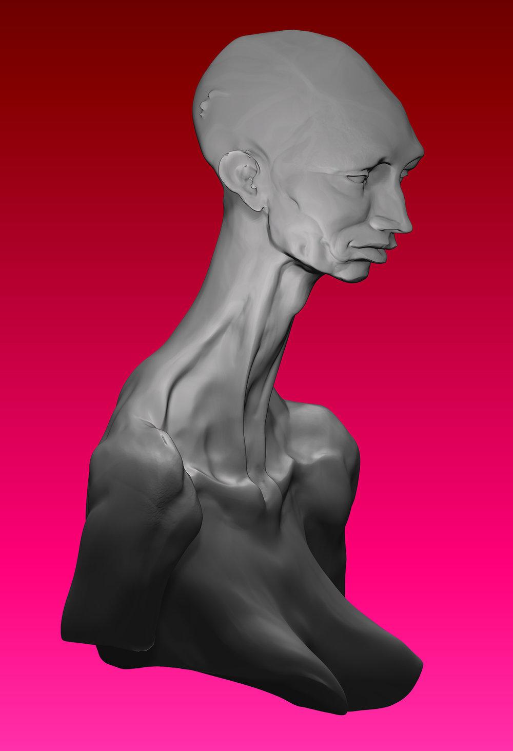 Max Brazier-Jones concept art zbrush portrait sculpture