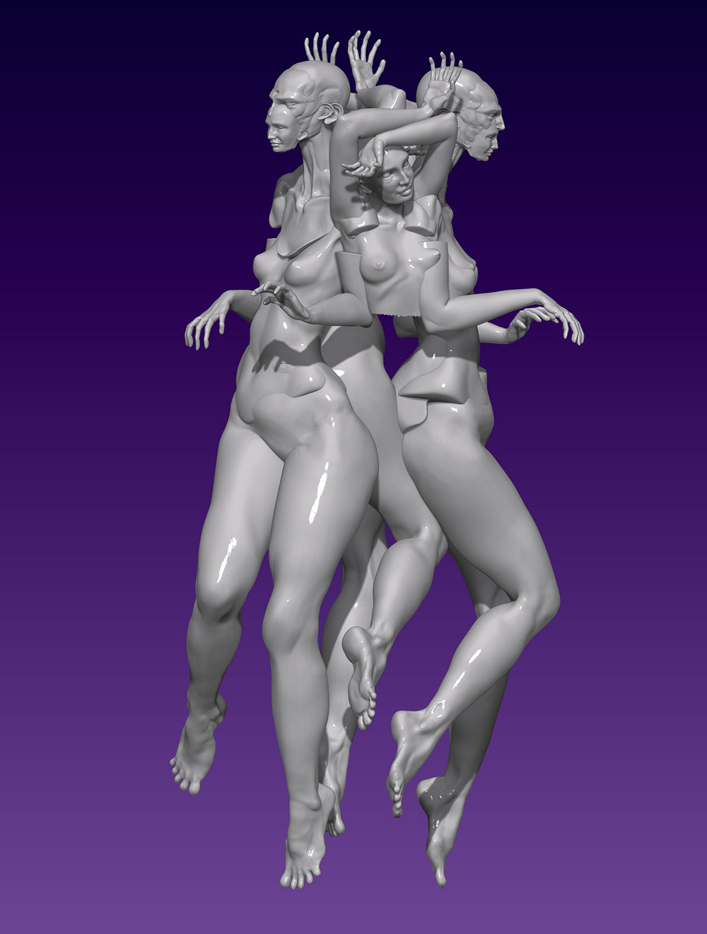 Max Brazier-Jones concept art zbrush figrative abstract surreal