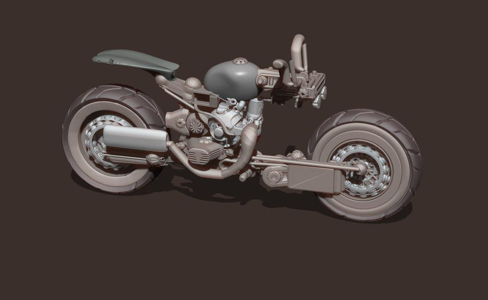Max Brazier-Jones motorbike concept art hard surface zbrush