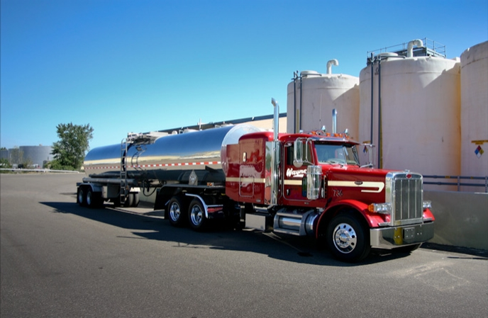 1 of the 100+ Chemical Truck Transports from Wayne's Fleet