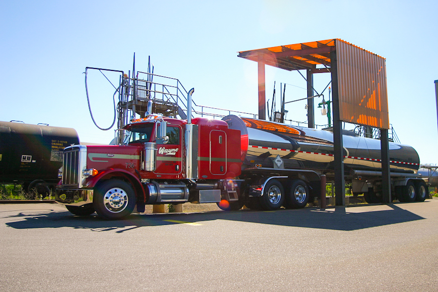 Pump equipment and professionally trained truckers for transfer to rail cars.