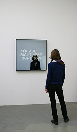 Jeppe Hein: YOU ARE RIGHT HERE RIGHT NOW, 2012, Courtesy KÖNIG GALERIE, Berlin, 303 Gallery, New York, Galleri Nicolai Wallner, Copenhagen, Foto / Photo: Studio Jeppe Hein.
