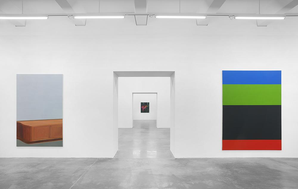 Eberhard Havekost,  Inhalt, Ausstellungsansicht, Maschinenhaus M1,Foto: Jens Ziehe, 2016