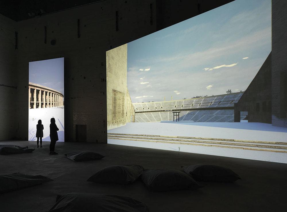 David Claerbout: Olympia, Ausstellungsansicht KINDL - Zentrum für zeitgenössische Kunst; © David Claerbout / VG BILD-KUNST, Bonn, 2016