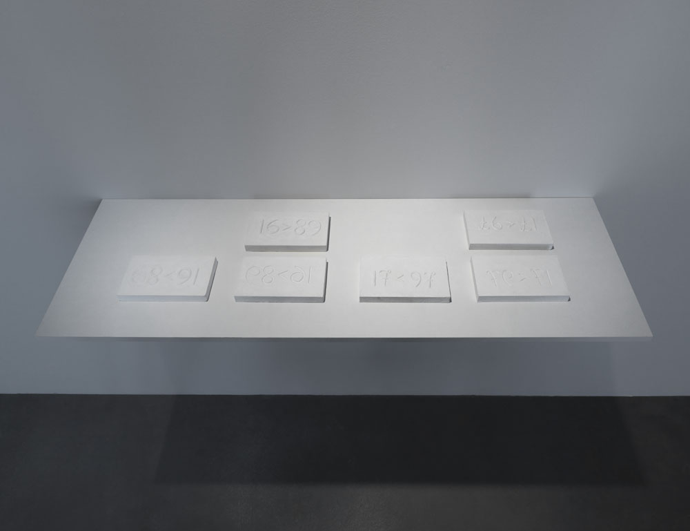 Magnús Pálsson,    Maths (Stærðfræði) , 1976/1978, Ausstellungsansicht  Up And Down , Maschinenhaus M1, Courtesy of the Artist, Foto: Jens Ziehe, 2017