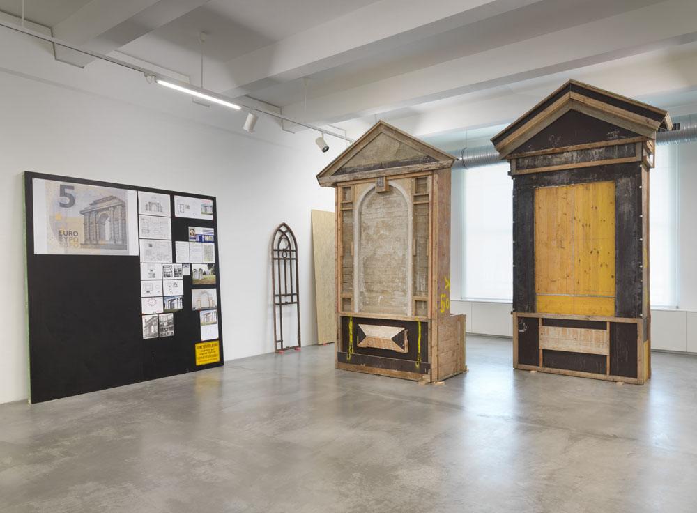 Clemens Botho Goldbach, Ausstellungsansicht  Ruinen der Gegenwart , Maschinenhaus M1, Foto: Jens Ziehe 2017
