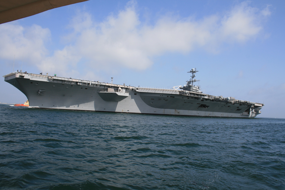 USS John  C. Stennis coming home, San Diego Bay.