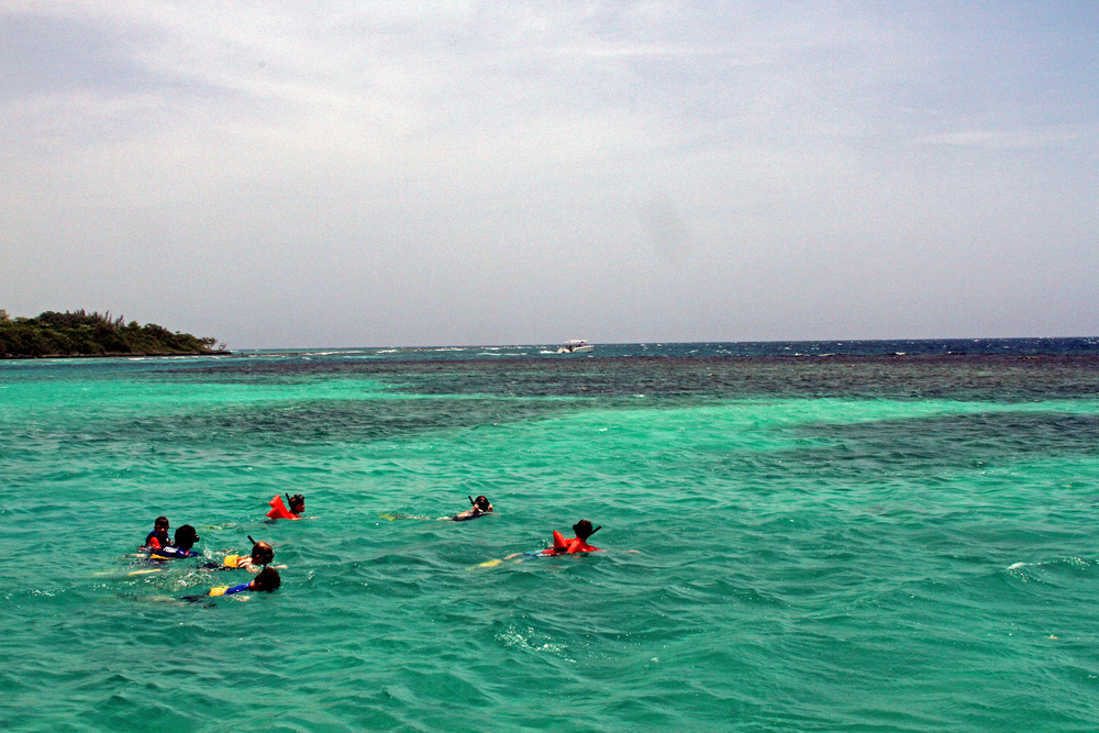 Snorkeling off the coast of Ocho Rios, Jamaica