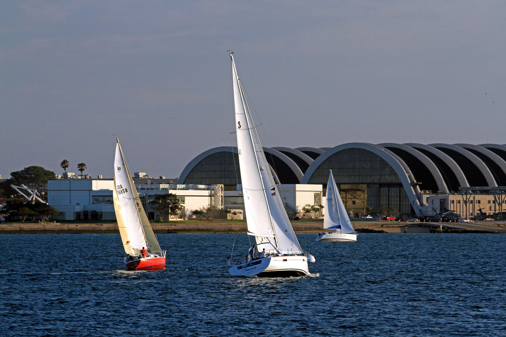 Wednesday Regatta on  San Diego Bay.