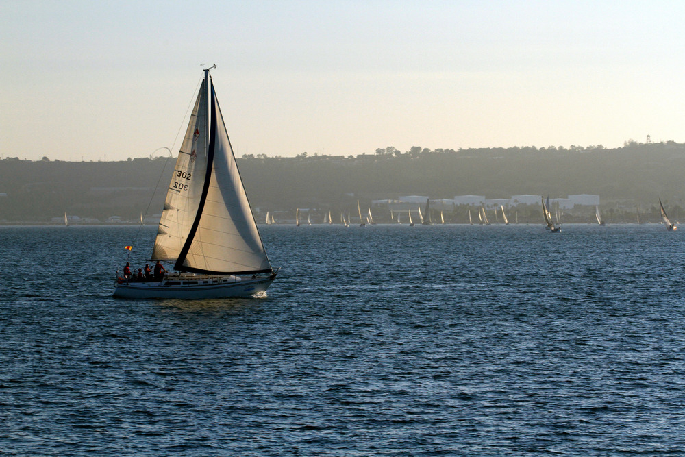 Regatta's end   San Diego Bay