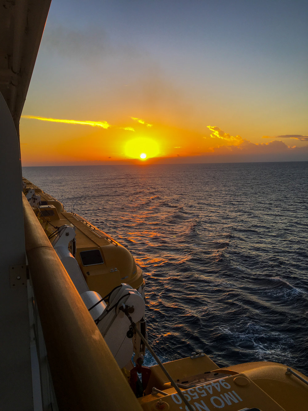 Sunset on the Caribbean.