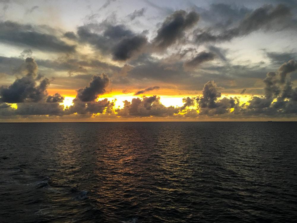 Sunset in the Carribbean near Cuba