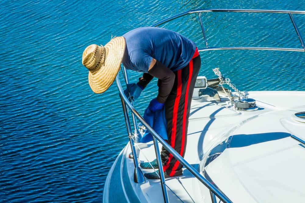 Boat worker, San Diego
