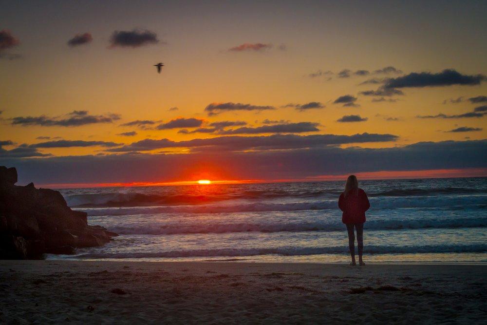 Sunset at Ocean Beach San Diego, California
