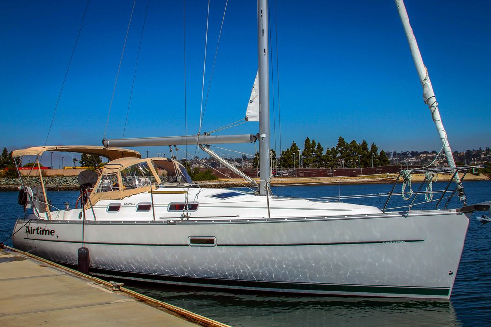 """Airtime""  32 foot Beneteau sailboat"