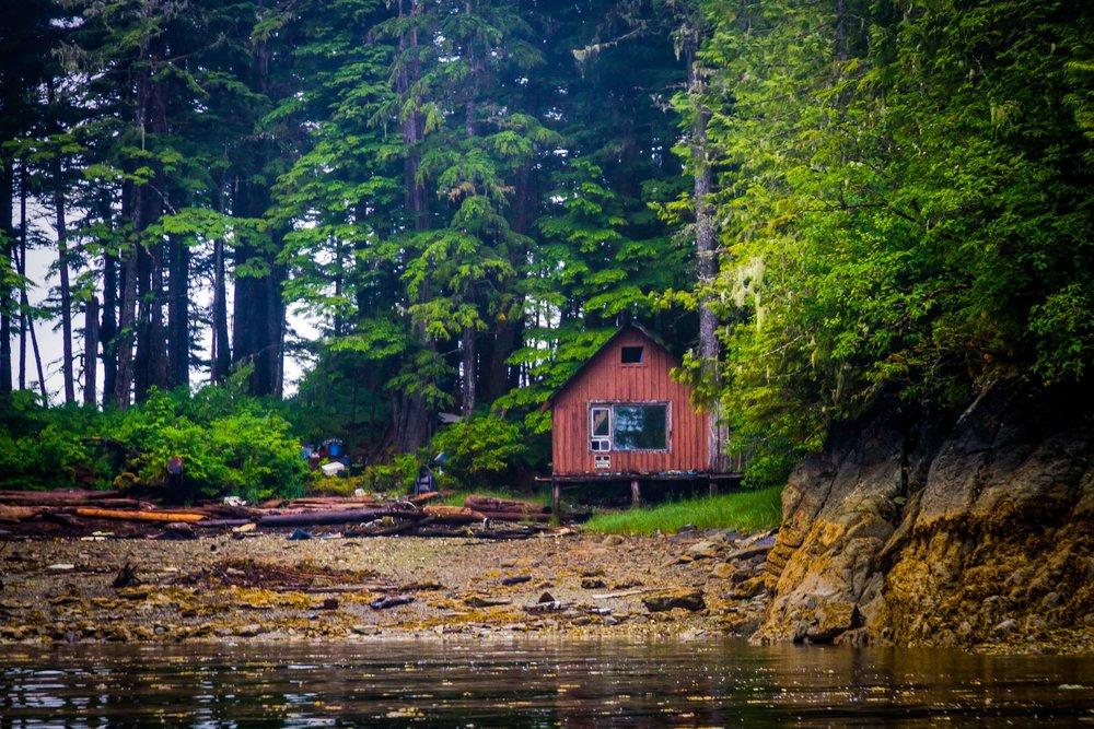 A cabin in Alaska.
