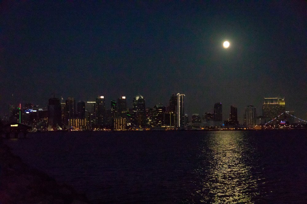 Moon Rise over San Diego Bay