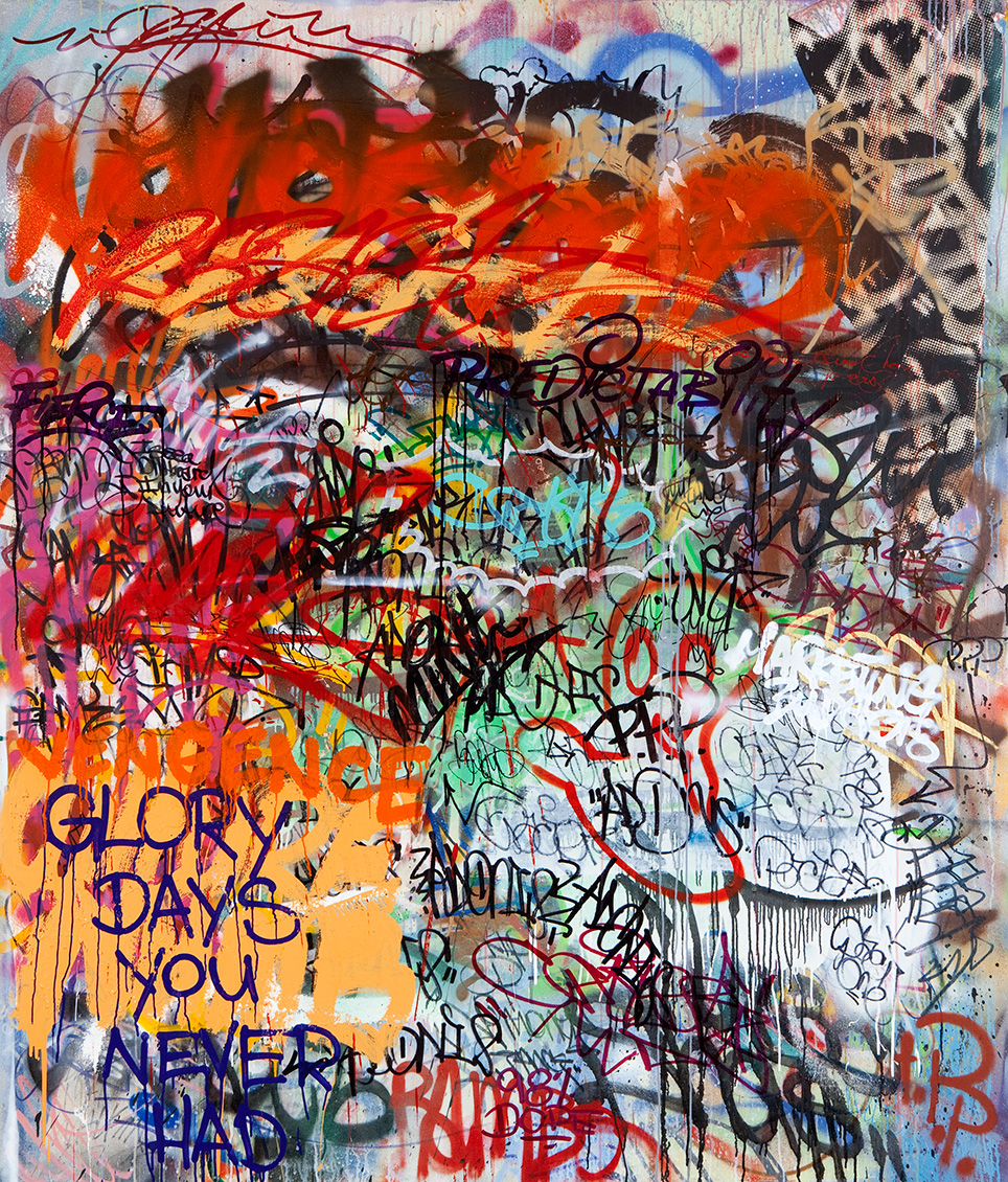Fierce Marketing Budgets,  Mixed Media on Canvas, 6ft x 7ft  ©2011-2012 Mint&Serf with Jacuzzi Chris and Pablo Power