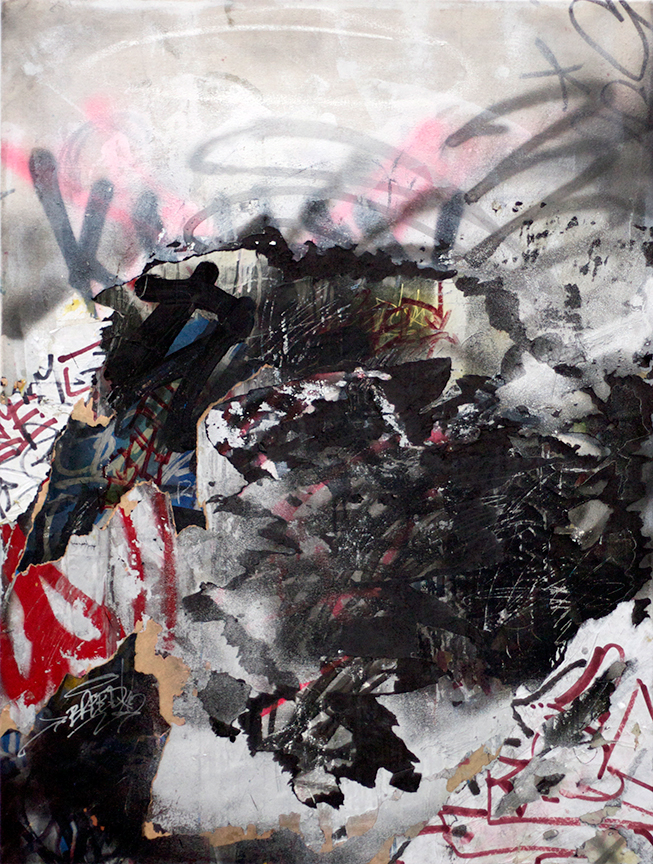 Cheap Thrill , Mixed Media on canvas, 41in x 31in  ©2014 Mint&Serf