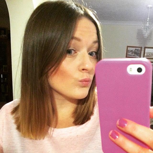 Jasmin's new hair cut by Sarah, I love this long bob!