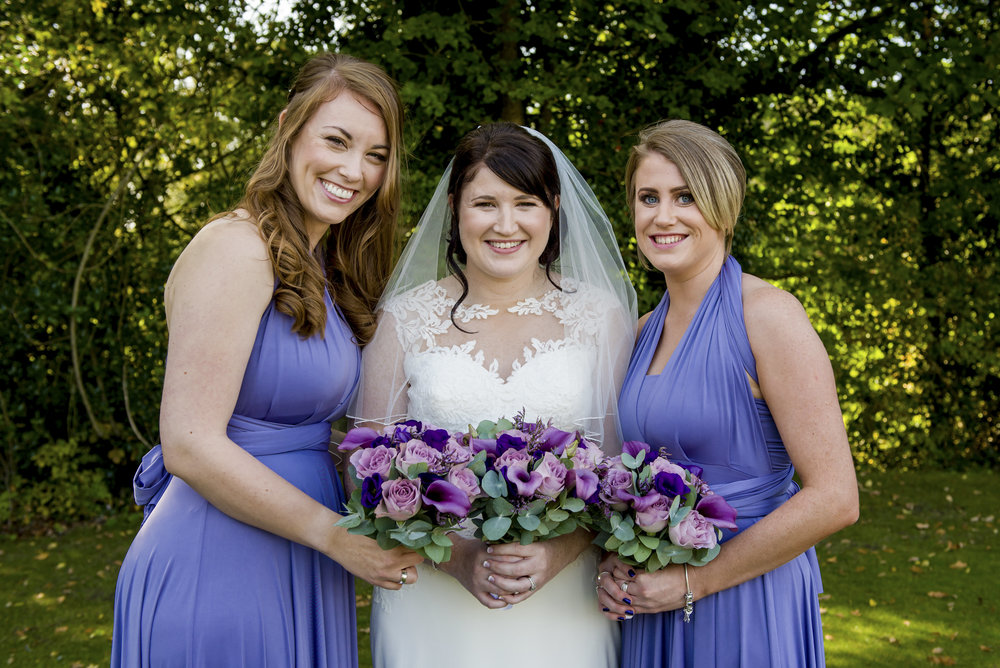 Bride and Bridesmaid's Hair by Sarah - Marcus Charter Photography