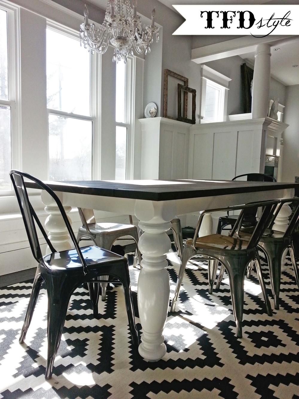 diy farm style dining room table tfd style