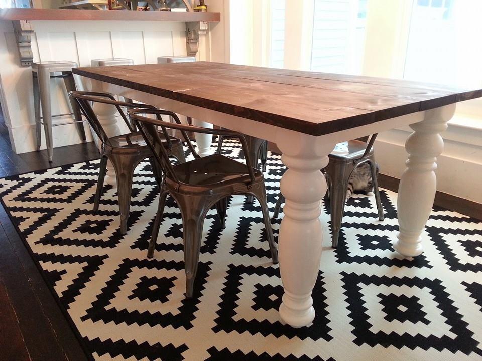 DIY Farmhouse Dining Room Table TFD Style