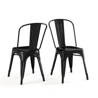 metal stacking bistro chair