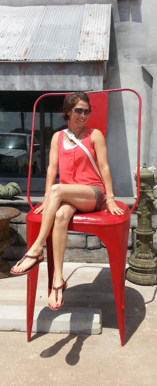 Ginormous Red Bistro Chair