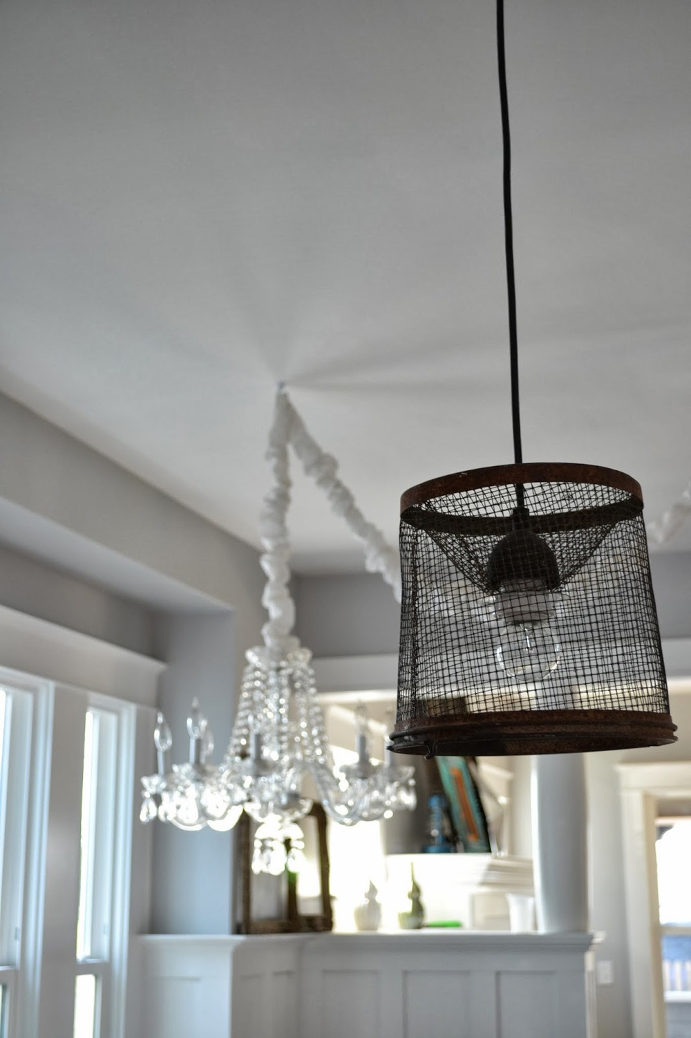 All I Had To Do To Get Them To Fit Was Buy A Reducing Washer, And Wallah,  Totally Unique Pendant Light Fixtures For Under $20 Each!